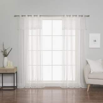 Lark Manor Overman Tulle Lace Solid Sheer Grommet Curtain Panels