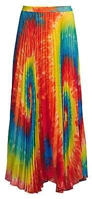 Alice + Olivia Women's Shannon Tie-Dye Pleated Long Skirt - Size 0