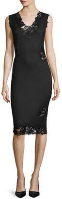 Ermanno Scervino Pashmina Lace-Inset Sheath Dress