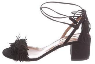 Aquazzura Wild Thing City Suede Sandals