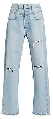 RE/DONE Women's Double Yoke Distressed Jeans