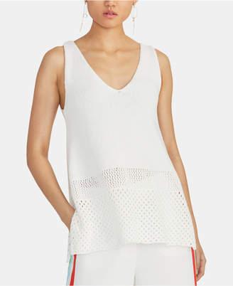 Rachel Roy Tasha Sleeveless Open-Knit Sweater Top