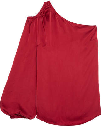 Elizabeth and James Denissa One-shoulder Satin Top - Red