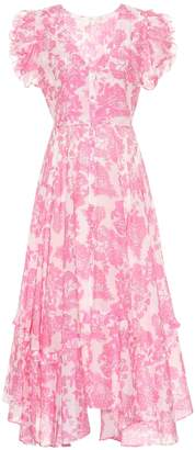 LoveShackFancy Andie floral cotton and silk dress