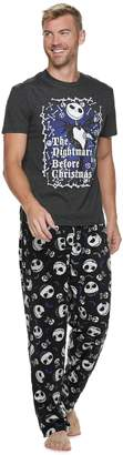 "Men's ""The Nightmare Before Christmas"" Jack Skellington Tee & Lounge Pants Set"