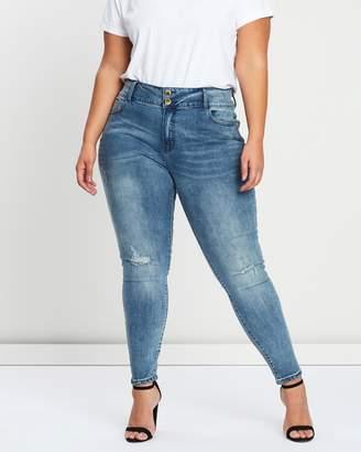 City Chic Asha Faded Skinny Jeans