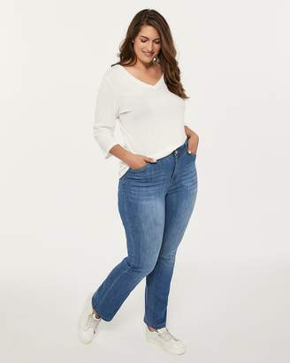 Slightly Curvy Bootcut Jean with Back Pocket Embroidery - d/C JEANS