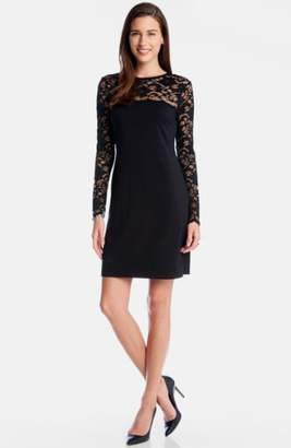 Karen Kane 'Blake' Lace Yoke Sheath Dress