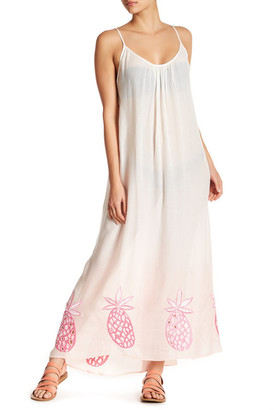 Letarte Sleeveless T Low Back Embroidered Beach Dress $254 thestylecure.com