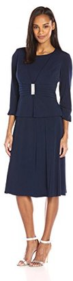 Jessica Howard Women's 2 Piece Solid Jacket and Dress Set $108 thestylecure.com