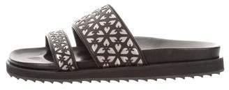 Alexander McQueen Embellished Slide Sandals