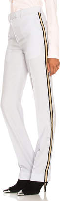 Calvin Klein Wool Gabardine Side Stripe Trousers