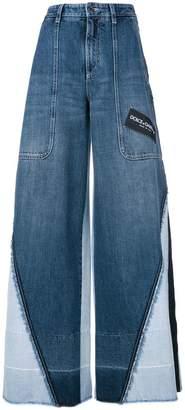 Dolce & Gabbana panelled wide leg jeans