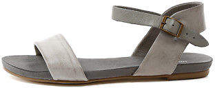 Django & Juliette New Jinnit Misty Grey Strap Womens Shoes Casual