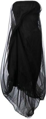 Rick Owens strapless tulle dress