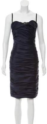 Mandalay Ruffled Knee-Length Slip Dress