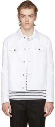 Neil Barrett White Linen Denim Jacket