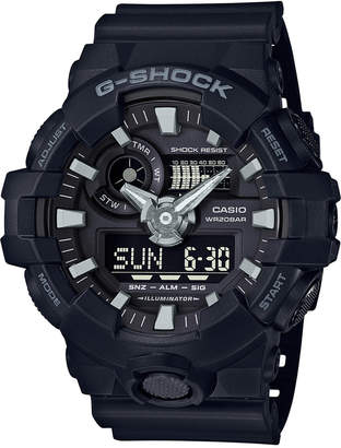 G-Shock Men Analog-Digital Black Resin Strap Watch 53x58mm Ga-700-1B