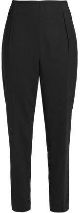 Stretch-Wool Crepe Tapered Pants