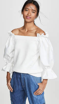 ADEAM Off Shoulder Sweater