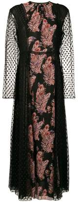 Giamba sheer maxi dress