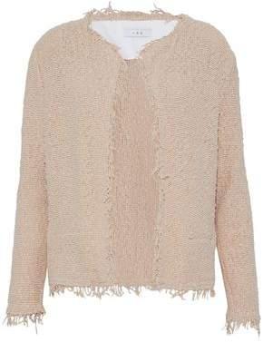 IRO Frayed Cotton-Blend Bouclé Jacket
