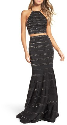 Women's La Femme Two-Piece Gown $488 thestylecure.com