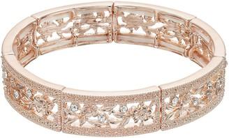 Lauren Conrad Textured Openwork Flower Stretch Bracelet