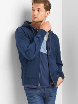 Indigo zip hoodie