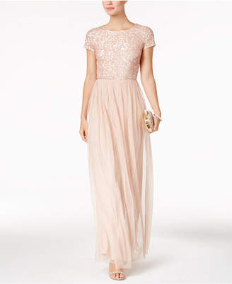 Adrianna Papell Sequined Tulle A-Line Gown $199 thestylecure.com