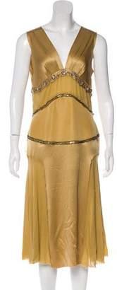 Lanvin Satin Embellished Dress