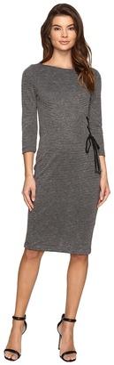 Christin Michaels - Lillia Side Lace-Up Bodycon Midi Dress Women's Dress $98 thestylecure.com
