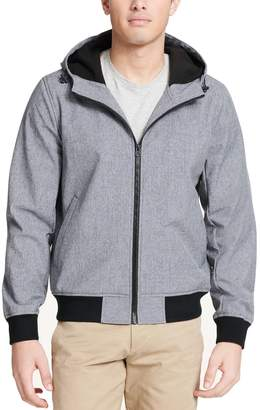 Dockers Men's Chase Softshell Performance Hooded Bomber Jacket