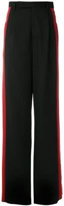 Yang Li side-striped trousers