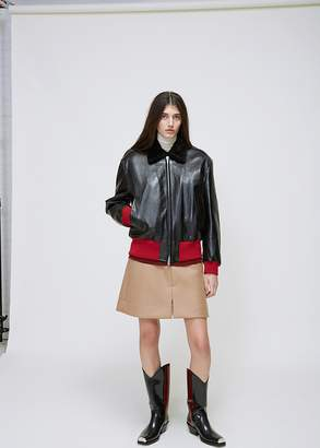 Calvin Klein Leather Bomber