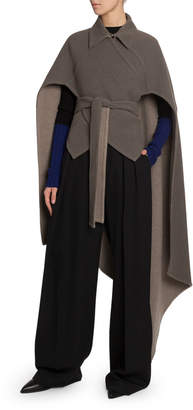 J.W.Anderson Double-Face Wool-Cashmere Cape
