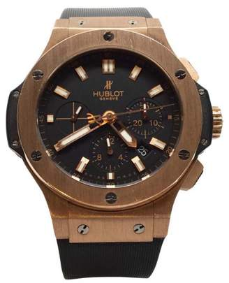 Hublot Big Bang Dial Black 18K Rose Gold Casual Mens Watch $33,600 thestylecure.com