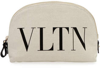 Valentino VLTN Medium Canvas Cosmetic Case