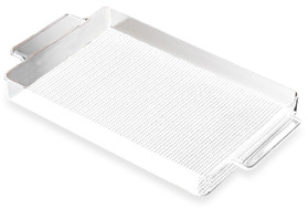 Bed Bath & Beyond KraftWare™ Fishnet Lucite Handled Gallery Tray - White