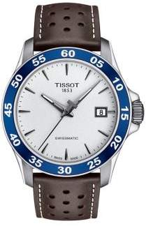 Tissot T-Sport V8 Swissmatic Chronograph Leather-Strap Watch