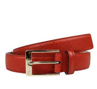 Gucci Men's Leather Diamante Square Buckle Belt 345658 (110/44, )