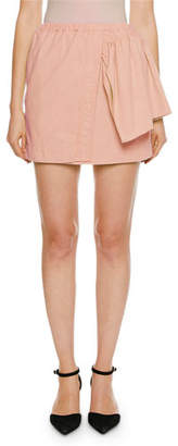No.21 No. 21 Faux-Wrap Mini Ruffle-Side Skirt