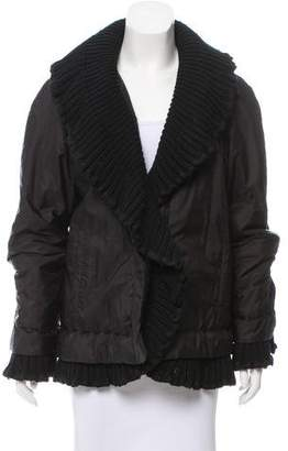 Ermanno Scervino Rib Knit Trimmed Short Coat