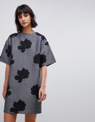 Asos mini dress in floral jacquard