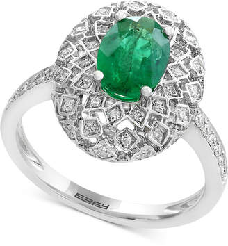 Effy Brasilica by Emerald (1-1/8 ct. t.w.) and Diamond (1/4 ct. t.w.) Ring in 14k White Gold