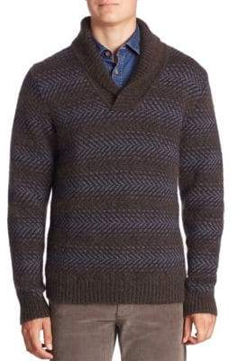 Saks Fifth Avenue Mohair Shawl Neck Sweater