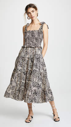 Rebecca Taylor Short Sleeve Leopard Dress