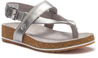 Timberland Malibu Waves Leather Thong Platform Sandal