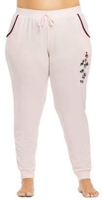Gloria Vanderbilt Women's and Women's Plus Vintage Romance Knit Jogger Sleep Pant