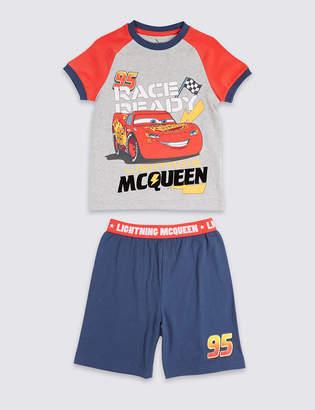 Marks and Spencer Disney CarsTM Pure Cotton Short Pyjamas (1-7 Years)